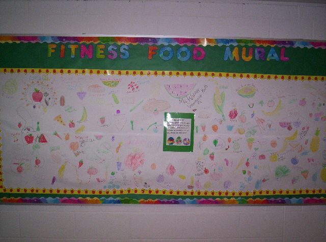 Fitness Food Mural Image