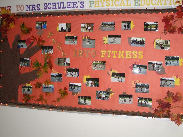 Fall Into Fitness Bulletin Board Image