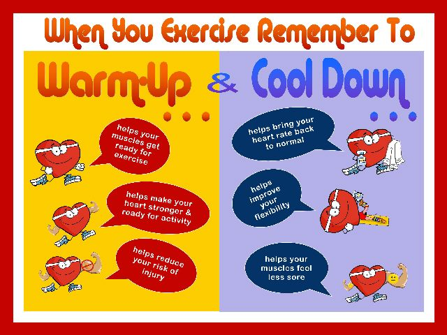 Remember to Warm-Up and Cool Down Image