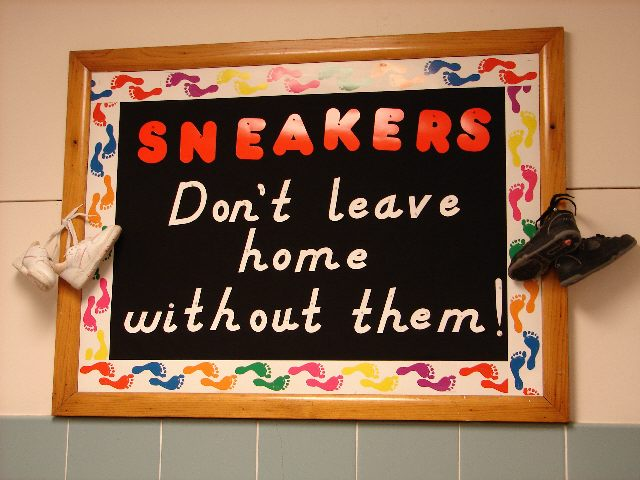 Sneakers! Don't leave home without them! Image
