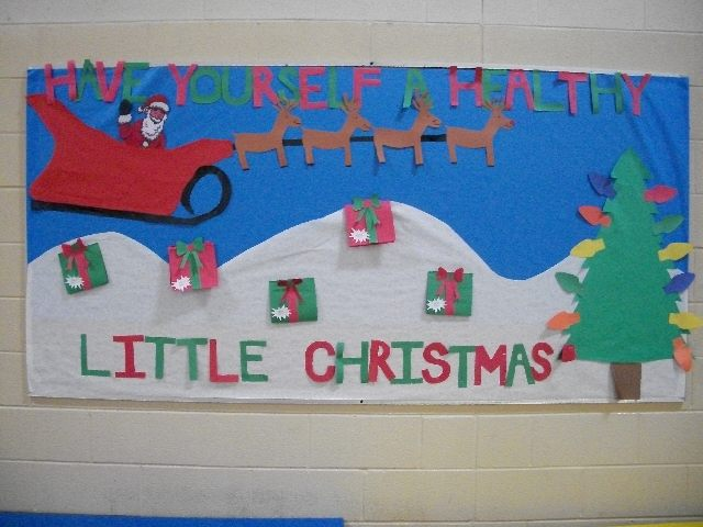 have yourself a healthy little christmas image - Christmas Bulletin Boards For Preschool