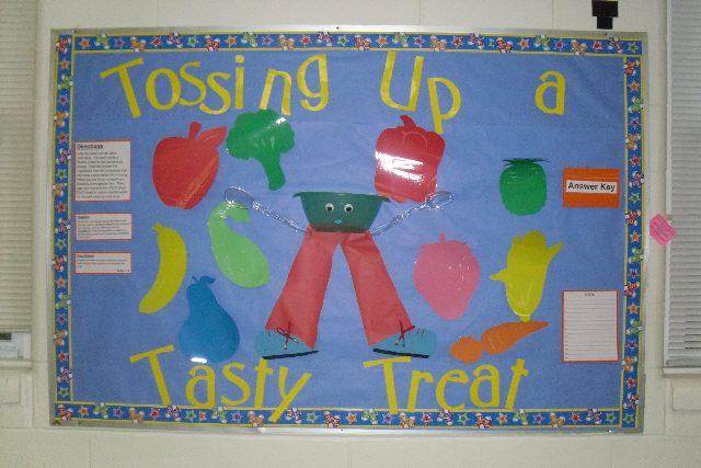 Bulletin Board Use Kitchen Scissors Tossing Up A Tasty Treat Image