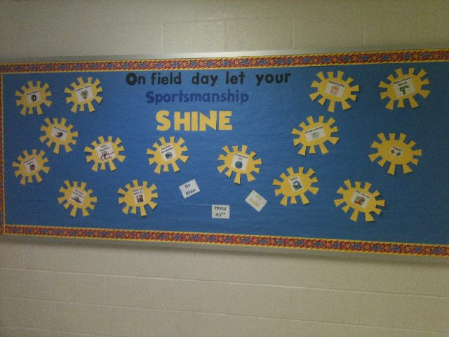 On field day let your sportsmanship SHINE Image