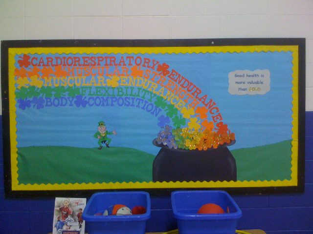 amazing March Bulletin Board Ideas Part - 11: Components of Fitness Image