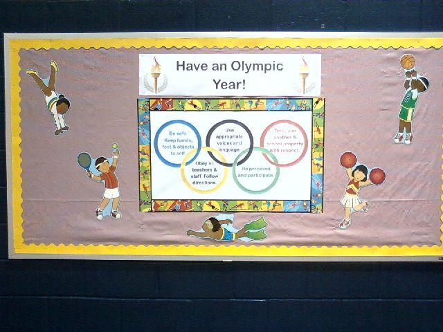 Classroom Olympics Ideas ~ Pec bulletin boards for physical education