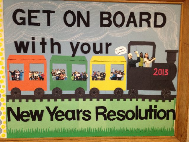 Title of Bulletin Board: New Years Resolution (New Year's Day)