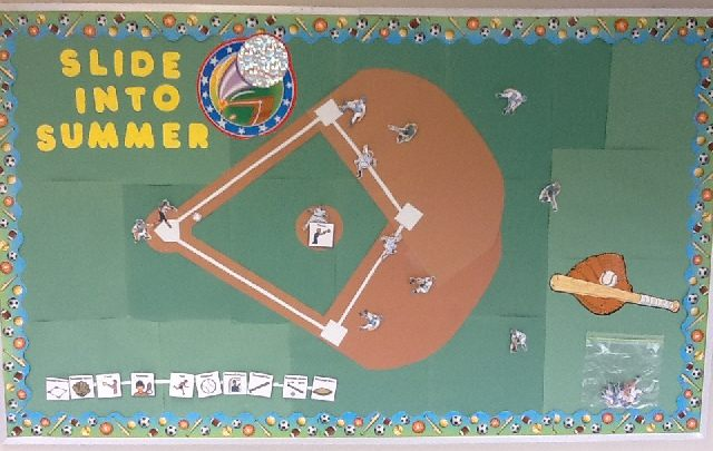 Slide Into Summer Interactive Bulletin Board Image