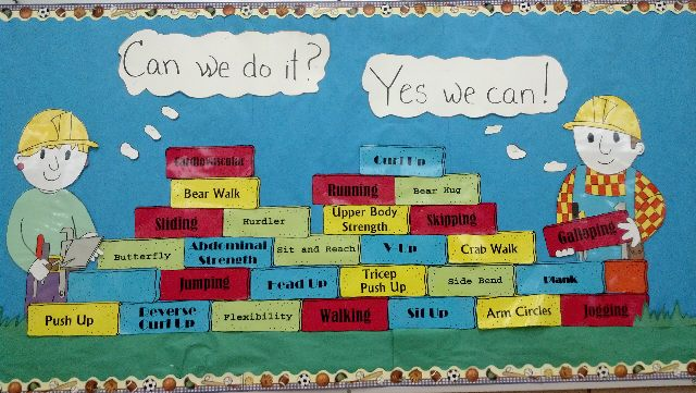 Pec bulletin boards for physical education for Bulletin board template word