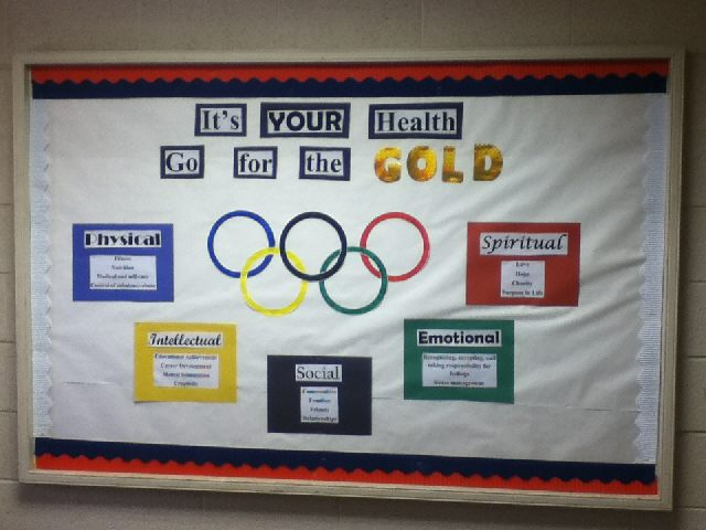 Classroom Decorating Ideas Olympic Theme ~ Pec bulletin boards for physical education