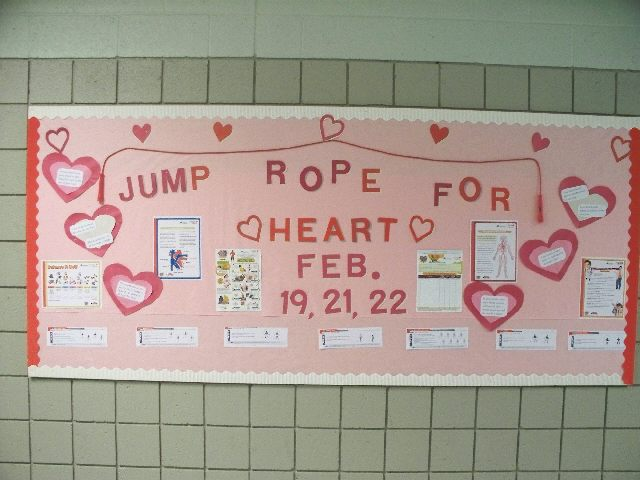 This bulletin board was constructed to complement the month of February,