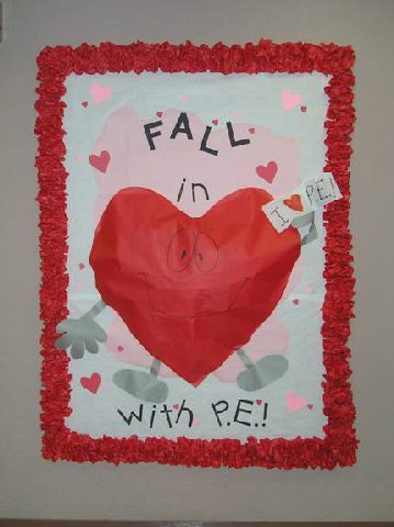 Valentine's Day bulletin board. This is a February/Valentine-themed bulletin