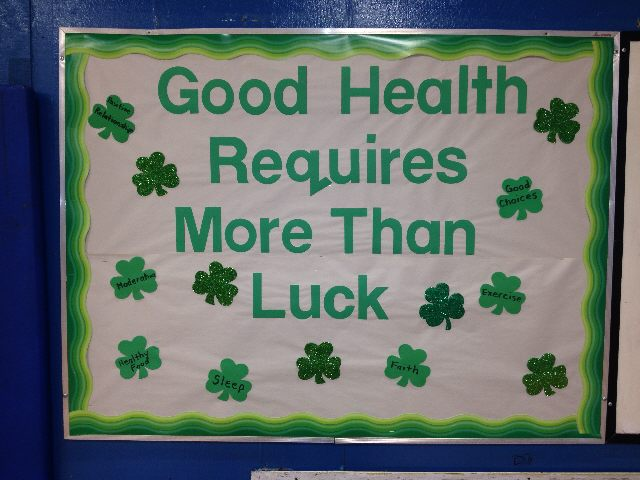 Health requires more than LUCK (St. Patricks Day) Image