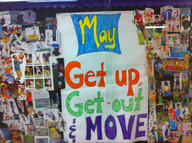 May: get up get out and move Image