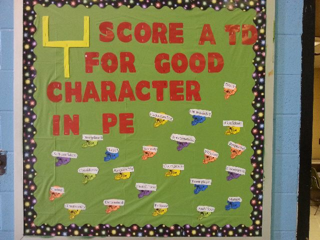 Score a TD for Good Character in PE Image