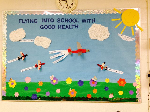 Flying Into School with Good Health Image