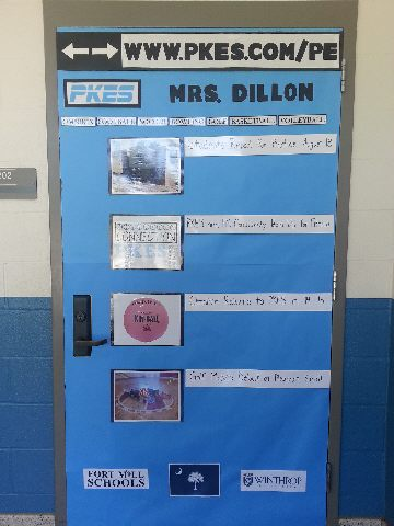 Physical Education Website Door Board Image
