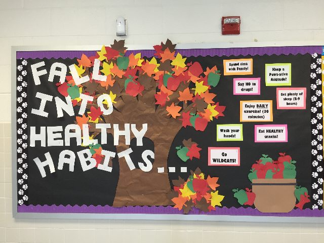 Image result for fall into healthy habits bulletin board