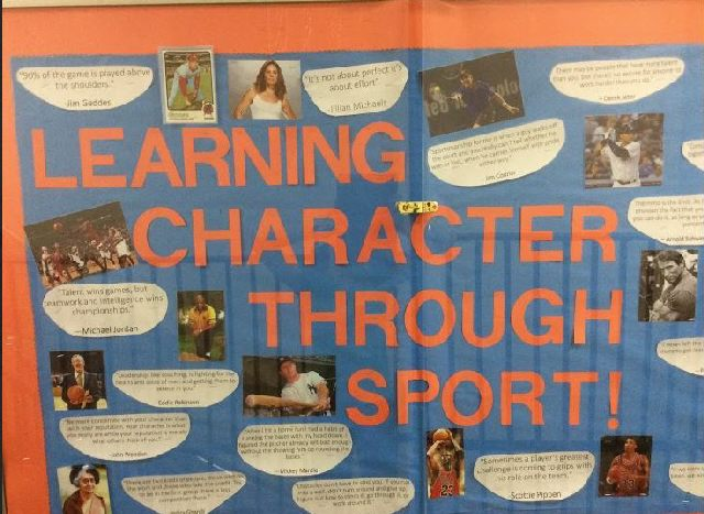 Learning Character Through Sport Image