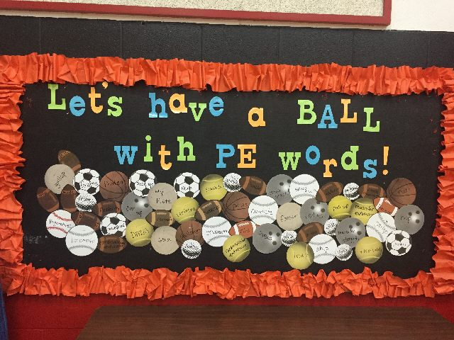 Let's Have a Ball With PE Words Image