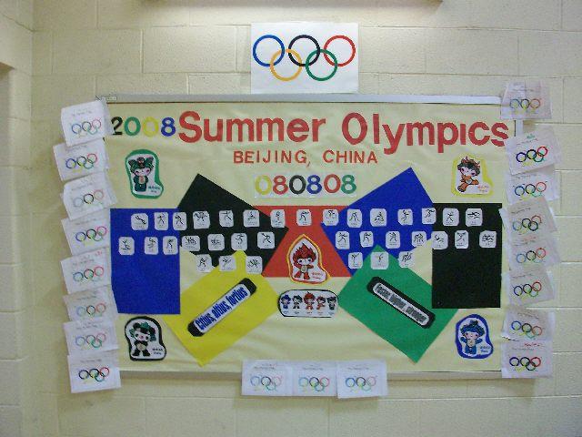 good Olympic Bulletin Board Ideas Part - 19: 2008 Olympics Image