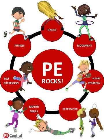 Entrance to PE Room PE Rocks Poster Image