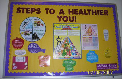 Steps to a Healthier You! (Food Pyramid) Image