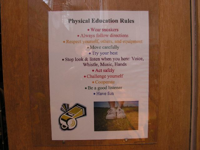 Physical Education Rules Image