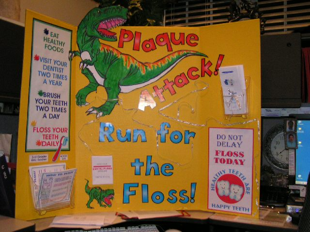 Attack of the Plaque!  Run for the Floss! Image