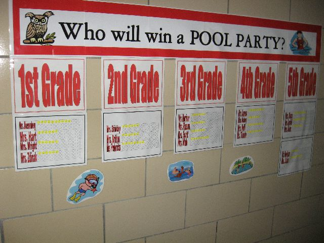 Behavior in Class Incentive: Pool Party Image