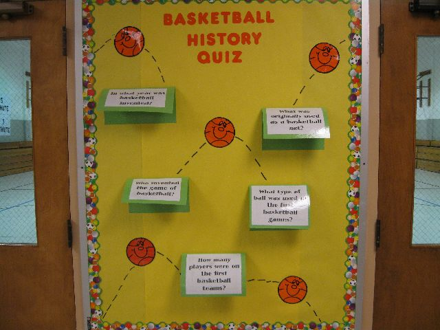 Classroom Quiz Ideas ~ Pec bulletin boards for physical education
