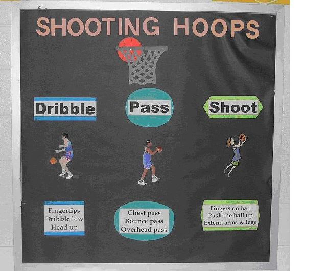 Shooting Basketball Hoops Image