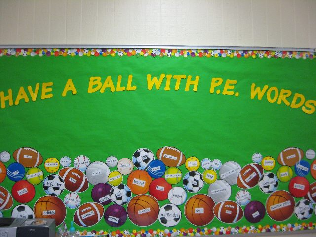 Have A Ball With P.E. Words Image