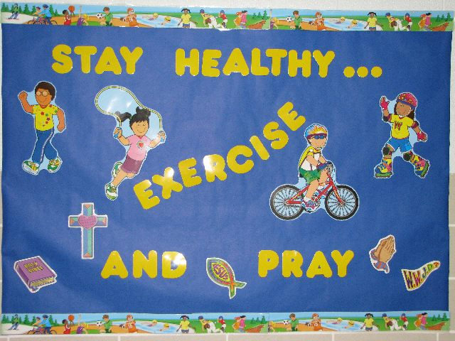Stay Healthy...Exercise & Pray Image