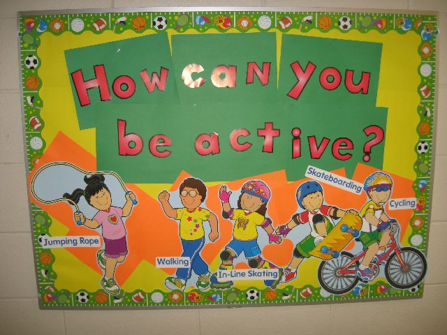 How can you be active? Image