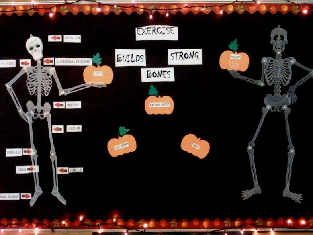 Exercise Builds Strong Bones (Halloween) Image