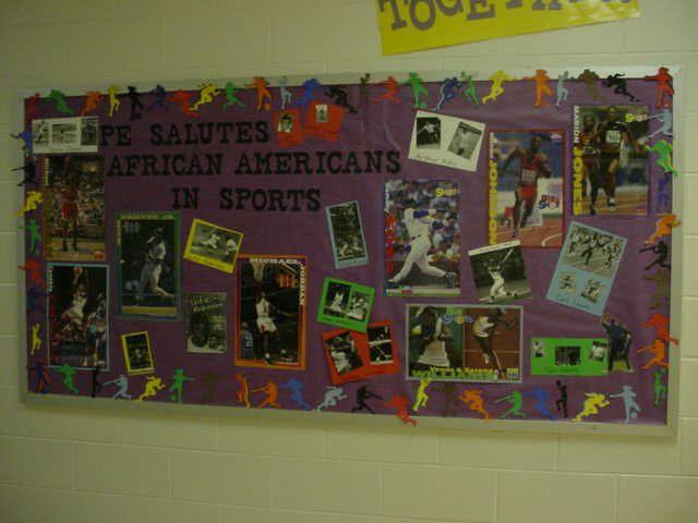 Pec bulletin boards for physical education for Black bulletin board ideas