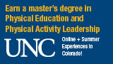 University of Northern colorado online physical education program