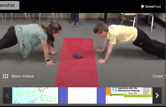 fitness plank push ups while learning math