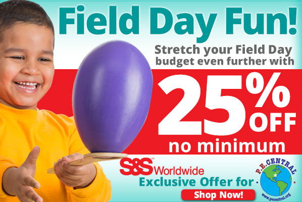 Free Field Day Resources from PE Central and S&S Discount Sports
