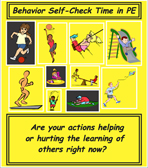 behavior self check poster