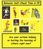 behavior self check poster