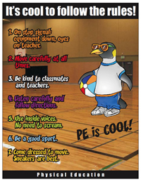 PE Rules posters