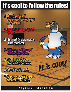 Physical education rules poster