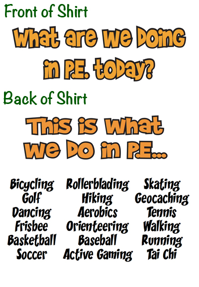 PE Central: New T-Shirts for Physical Education at PE ...