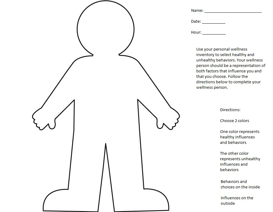 Worksheet Mental Health Wellness Worksheets pec lesson plans for physical education one color penmarkercrayon will be used writing healthy choices and the other unhealthy students can refer to their personal wellness